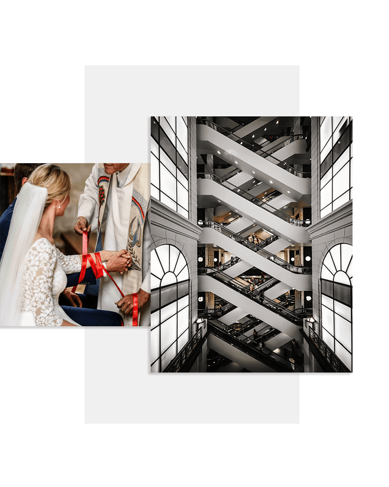 Hochzeit-Stufen